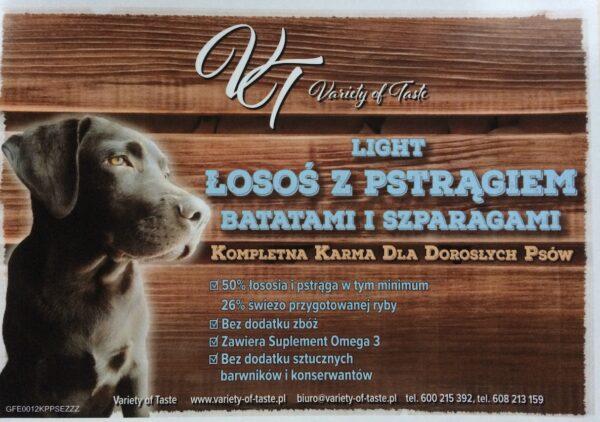 Light Pstrąg z Łososiem z Batatami i Szparagami