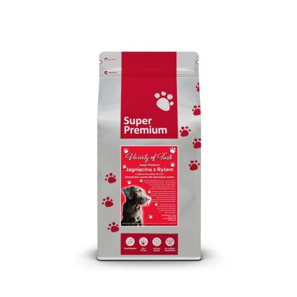 Super Premium dla dorosłych psów - jagnięcina z ryżem i suplementem diety Verm-X®